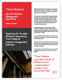 Time Matters software